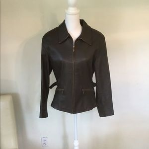 Wilsons brown leather blazer